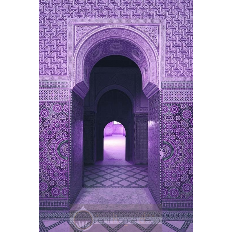 Tableau porte orientale design porte marocaine for Decoration porte orientale